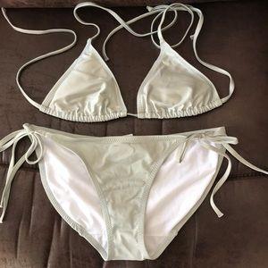 Old Navy Silver Swim Suit